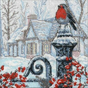 Christmas Morning Robin Cross Stitch Kit