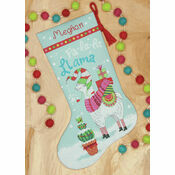 Llama Stocking Cross Stitch Kit