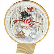 Joyful Snow Globe Cross Stitch Hoop Kit