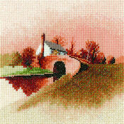 Lock Keeper's Cottage Cross Stitch Miniature Kit