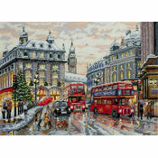 London In The Snow Cross Stitch Kit