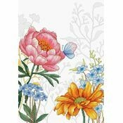 Flowers & Butterfly Cross Stitch Kit