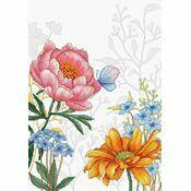 Flowers & Butterfly Cross Stitch Kit