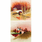By The Canal & Lock Keeper\'s Cottage Duo Cross Stitch Kits