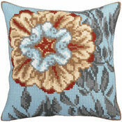 Azure Flower 2 Cross Stitch Cushion Panel Kit