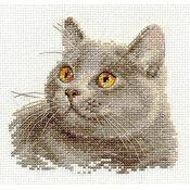 British Cat Cross Stitch Kit