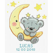 Lucas Birth Sampler Cross Stitch Kit