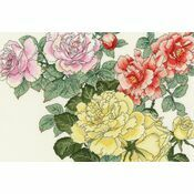 Rose Blooms Cross Stitch Kit
