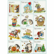 Calendar Creatures Cross Stitch Kit
