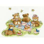 Teddy Bears\' Picnic Cross Stitch Kit