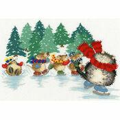 Mice Skating Cross Stitch Kit