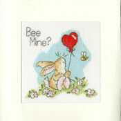 Bee Mine? Cross Stitch Card Kit