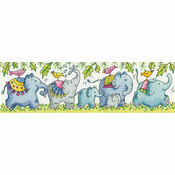 Elephants On Parade Cross Stitch Kit