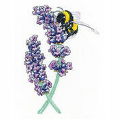 Lavender Bee Cross Stitch Kit