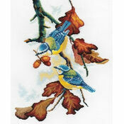 Blue Tits On Branch Cross Stitch Kit