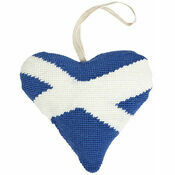 Scottish Saltire Lavender Heart Tapestry Kit
