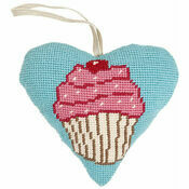 Cupcake Lavender Heart Tapestry Kit