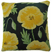 Yellow Poppy Herb Pillow Tapestry Kit
