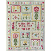 Bee Birth Sampler Cross Stitch Kit