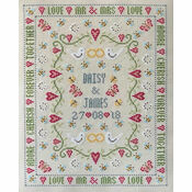 Bee Wedding Sampler Cross Stitch Kit