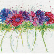 Modern Anemones Cross Stitch Kit