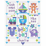 Baby Boy Squares Birth Sampler Kit