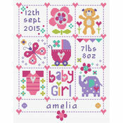 Baby Girl Squares Birth Sampler Kit