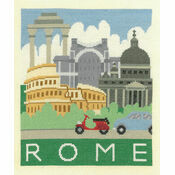 Rome Cityscapes Cross Stitch Kit