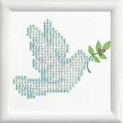 Dove Of Peace With Frame Diamond Dotz Kit