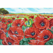 Red Poppy Field Diamond Dotz Kit