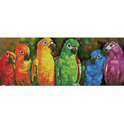 Rainbow Parrots Diamond Dotz Kit