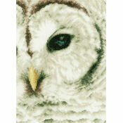 Snowy Owl Close-Up Cross Stitch Kit
