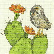 Prickly Owl Cross Stitch Kit