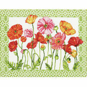 Poppy Pattern Cross Stitch Kit