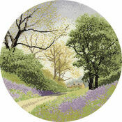 Bluebell Lane (Circles) Cross Stitch Kit