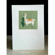Lulu Llama Mini Beadwork Embroidery Card Kit