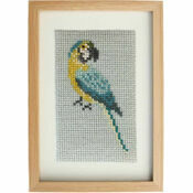 Blue Macaw Beadwork Embroidery Card Kit