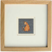 Moggie The Cat Mini Beadwork Embroidery Card Kit
