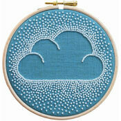 Beaded Cloud Hoop Embroidery Kit