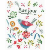 Flower Bird Cross Stitch Kit