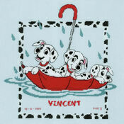 Disney Dalmatians Birth Sampler Cross Stitch Kit