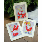 Christmas Gnomes 2 Cross Stitch Christmas Card Kits (Set of 3)