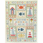 Boat Birth Sampler Cross Stitch Kit