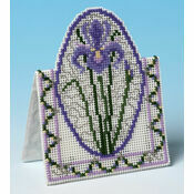 Purple Iris 3D Cross Stitch Card Kit
