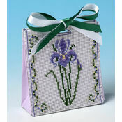 Purple Iris Gift Bag 3D Cross Stitch Kit
