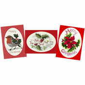 Holly Cross Stitch Card Kits (Derwentwater Designs Set 1)