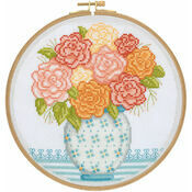 Grandma's Flowers Cross Stitch Hoop Kit