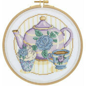 Afternoon Tea Cross Stitch Hoop Kit