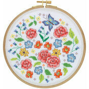 Summer Meadow Cross Stitch Hoop Kit