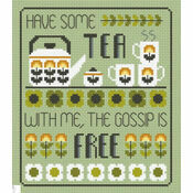 Tea & Gossip Cross Stitch Kit